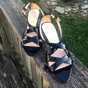 Elie Tahari Navy Blue Heels